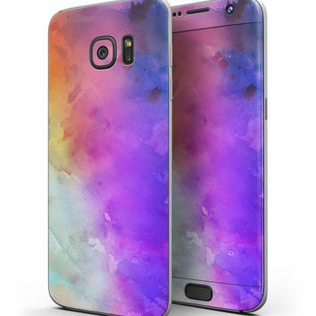 Washed 42321 Absorbed Watercolor Texture - Full Body Skin-Kit for the Samsung Galaxy S7 or S7 Edge