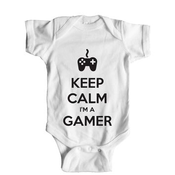 Keep Calm I'm A Gamer Baby Onesuit