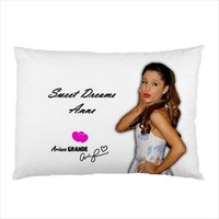 Ariana Grande Music Autograph Sweet Dreams Pillow Case Personalized Limited Gift