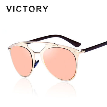 Fashion REFLECTED Sunglasses Cat Eye Women Or Men Superstar Vintage Brand Designer Metal Frame Celebrity Sun Glasses Male Female