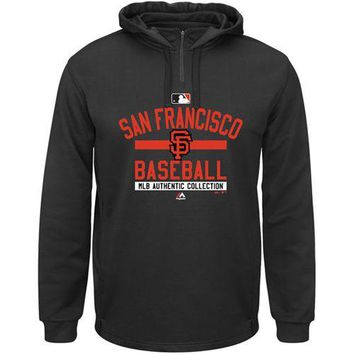 San Francisco Giants Majestic MLB Black Ultra Streak Pullover Hoodie