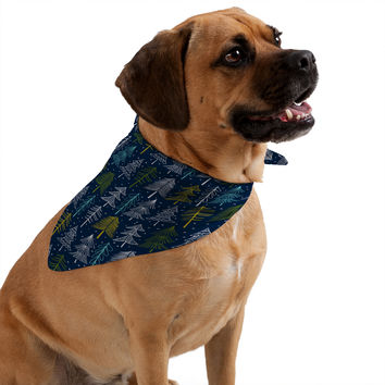 Heather Dutton Oh Christmas Tree Midnight Pet Bandana