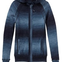 Athleta Womens Spectra Pine Rib Zip Hoodie Size XS - Dress blue
