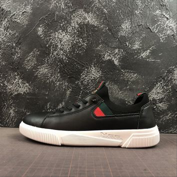 Gucci Leather Sneaker With Tiger White/black - Best Online Sale