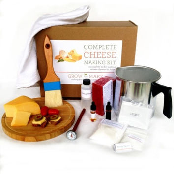 DIY Hard Cheese Making Kit - Learn how to make Gouda, Colby, Manchego, and Cheddar Cheese!