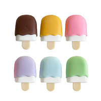 Ice Cream Bar Eraser : eco-friendly erasers for kids : Stubby Pencil Studio