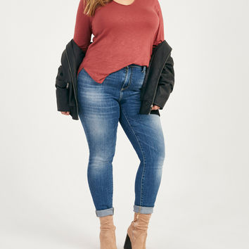 Plus Size High-Waisted Skinny Jeans | Wet Seal Plus