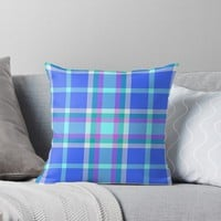 'TARTAN PATTERN 14' Throw Pillow by IMPACTEES