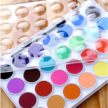 Watercolor Painting Set Set 28 Watercoloring Paint Colors Water Painting Watercolor Art Watercolor Paint Watercolor Sets Solid Watercolor