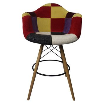 DAW Patchwork C - Bar Eiffel Armchair Stool - Reproduction