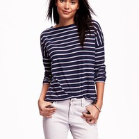 Old Navy Stripped Boat Neck Tee