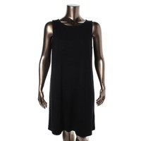 Eileen Fisher Womens Stretch Oversized Casual Dress
