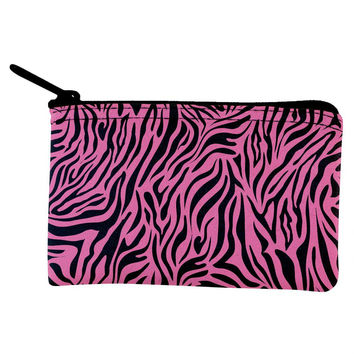 Zebra Print Pink Coin Purse