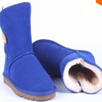 2015 Women Original Fashion High Quality UGG Brand Genuine Leather Australia Classic
