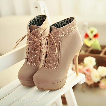 FASHION WATERPROOF HIGH-HEELED BOOTS