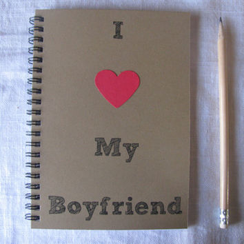 I heart My Boyfriend - 5 x 7 journal
