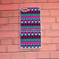 Iphone 5 Case, New iPhone 5 case Aztec Pink And turquoise Pattern iPhone 5 Cover, iPhone 5 Cases, Case for iPhone 5