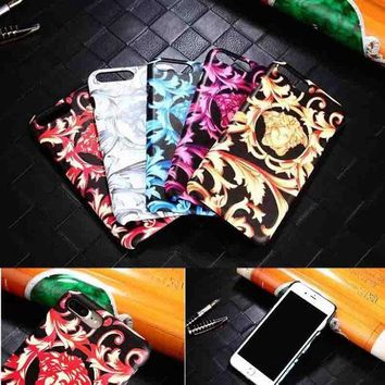 LMFUP0 Versace Fashion Logo Print iPhone Phone Cover Case For iphone 6 6s 6plus 6s-plus 7 7plus3