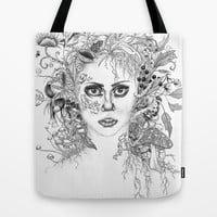 Garden Girl Tote Bag by 32 and dropping