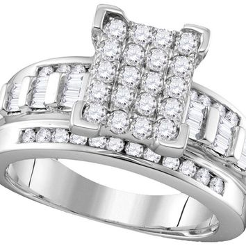 10k White Gold Diamond Cindy\'s Dream Cinderella Bridal Wedding Engagement Ring 2 Cttw Size 7