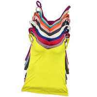 Summer Vest Modal Adjustable Women Strap Built In Bra Padded Bra Tank Top Camisole Cami L07