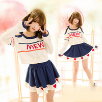 S/M/L Sports & Leisure Long Sleeve Shirt And Skirt Set SP165805