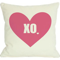 Overstock XO with Heart Throw Pillow from Overstock.com | BHG.com Shop