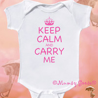Funny Baby Girl Onesuit Keep Calm Onesuit Modern GIrl Rompers Newborn Creepers to GIrly Tees
