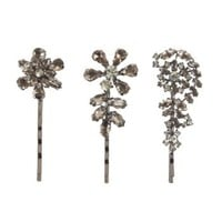 BCBGMAXAZRIA - ACCESSORIES: FORMAL ACCESSORIES: JEWELED HAIRPIN SET