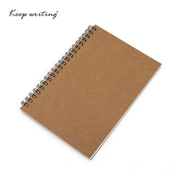 A5&A6 Spiral book coil Notebook Blank Paper Kraft or cream pages Journal Diary Note pad For School Supplies Stationery Store
