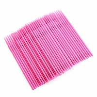 200 Pcs Microblading Micro Swab Lint Tattoo Permanent Brushes, Pink, by OKDEALS