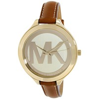 Michael Kors Women's Slim Runway Brown Watch MK2326
