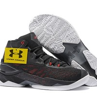 Under Armour Men's SC30 Stephen Curry 3.5 Black/Gray/Red Blue Sport Sneaker