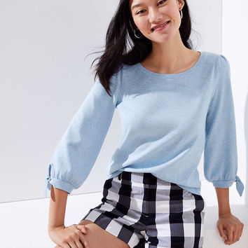 3/4 Sleeve Tie Cuff Sweater | LOFT