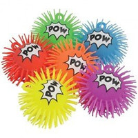 Flashing Light Up Puffer Super Hero Comic Book Design Balls (12)