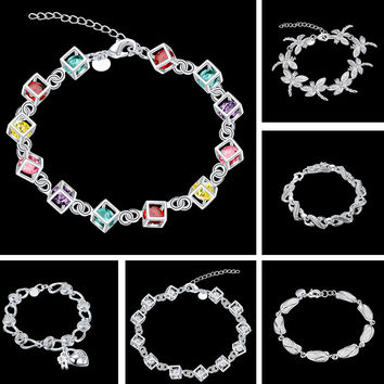New Arrival Gift Hot Sale Shiny Great Deal Awesome Crystal Stylish Silver Accessory Bracelet [9122232775]