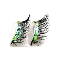 Natural Iridescence Glitter Faux Lashes by BedazzledbyErin on Etsy