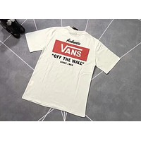 VANS 2018 summer classic couple sports and leisure round neck T-shirt F-AA-XDD White