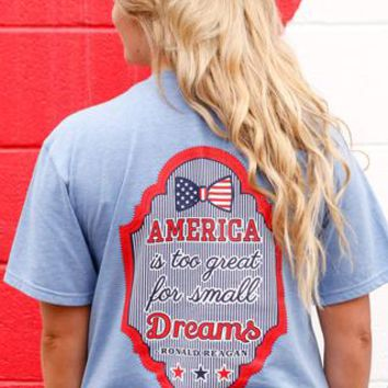 America is Too Great (Baby Blue) - Short Sleeve