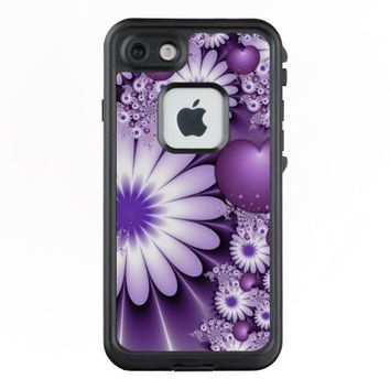 Falling in Love Abstract Flowers & Hearts Fractal LifeProof® FRĒ® iPhone 7 Case