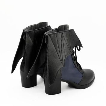 Vampire lolita cosplay shoes boots