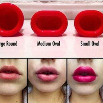 Cool Lip Plumper Sexy Full Natural Red Lips Plump Lip Enhancer Round Oval