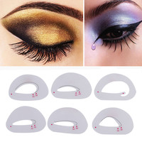 30pcs/set  Eyeshadow Models Cards Eyebrows Stencils Makeup Stencil