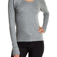 Helmut Lang | Wide V-neck Top | Nordstrom Rack