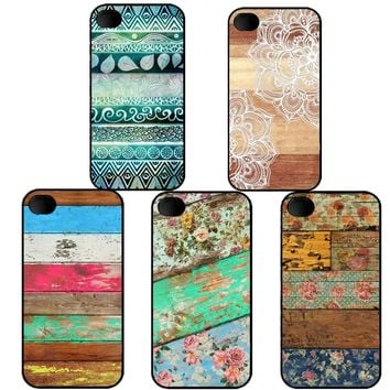 Colorful Wooden Phone Case Covers for iPhone