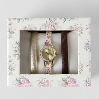 Floral Boxed Watch