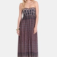 Test The Waters Printed Maxi Dress