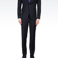 Emporio Armani Men One Button Suit - SLIM FIT SUIT IN COMBED WOOL Emporio Armani Official Online Store