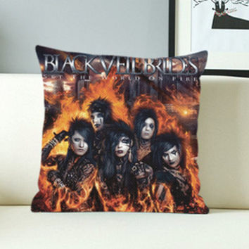 Black Veil Brides Set The World On Fire - Design Pillow Case with Black/White Color.