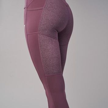 Gymshark Textured Leggings - Purple Wash